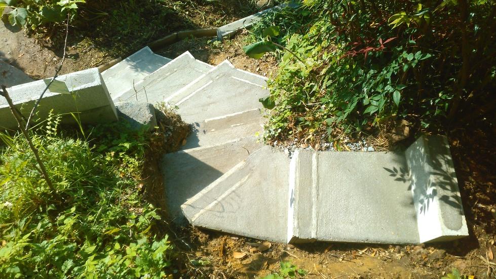 コンクリート土留めブロック階段-18